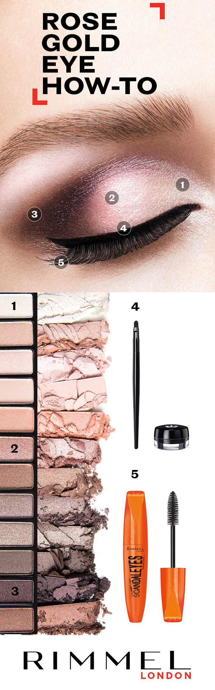 Photo of For a gorgeous eyeshadow idea, follow this step by step guide using Rimmel Londo…