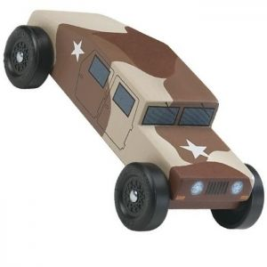 Pinewood Derby Car Designs  Revell Military Racer Pinewood Derby