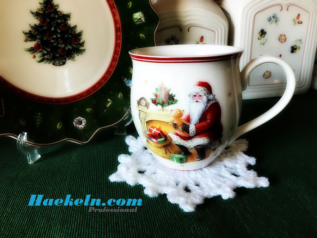 Anleitung Schneeflocke Untersetzer Häkeln Häkeln Für Weihnachten