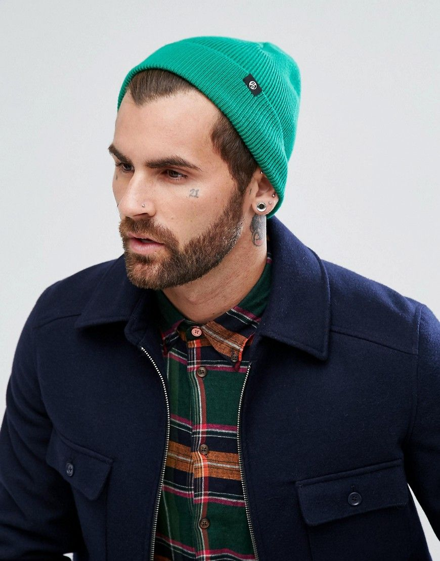Merino Wool Beanie in Green - Green Paul Smith