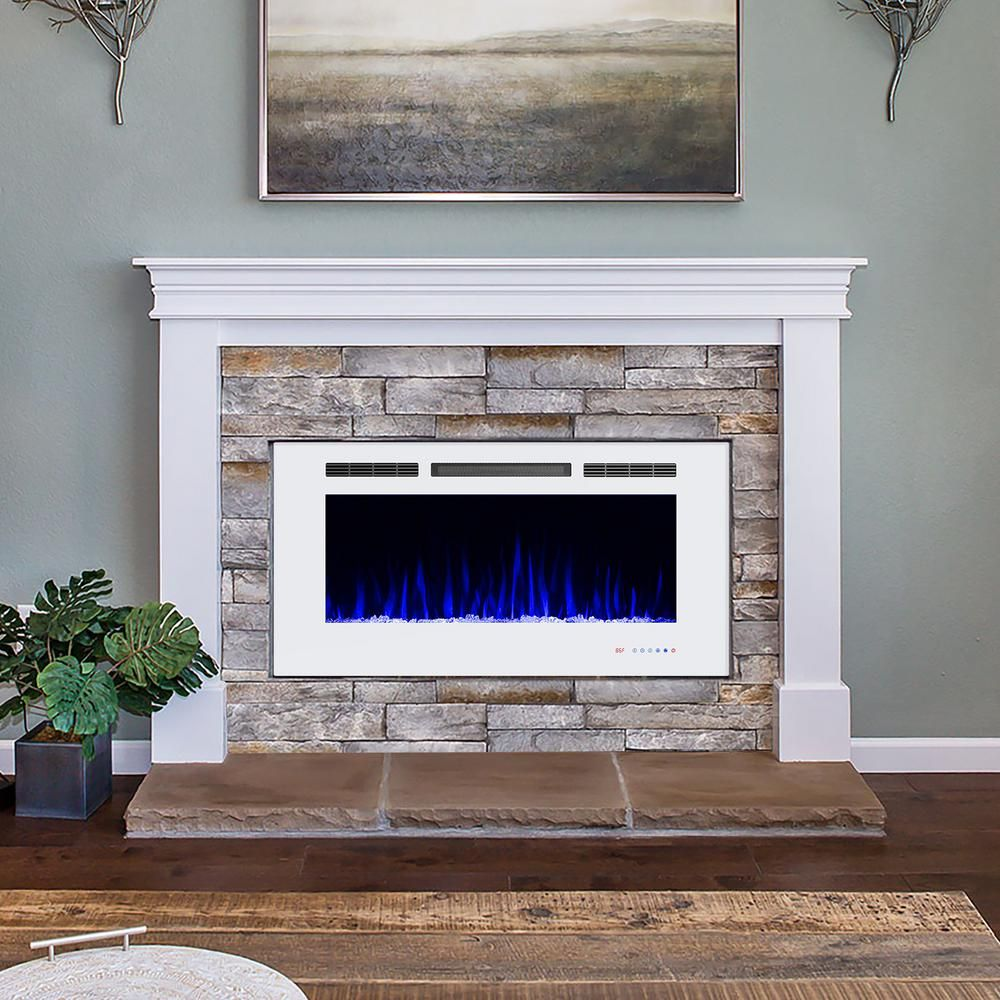 Boyel Living 42 In 400 Sq Ft Recessed Electric Fireplace Insert