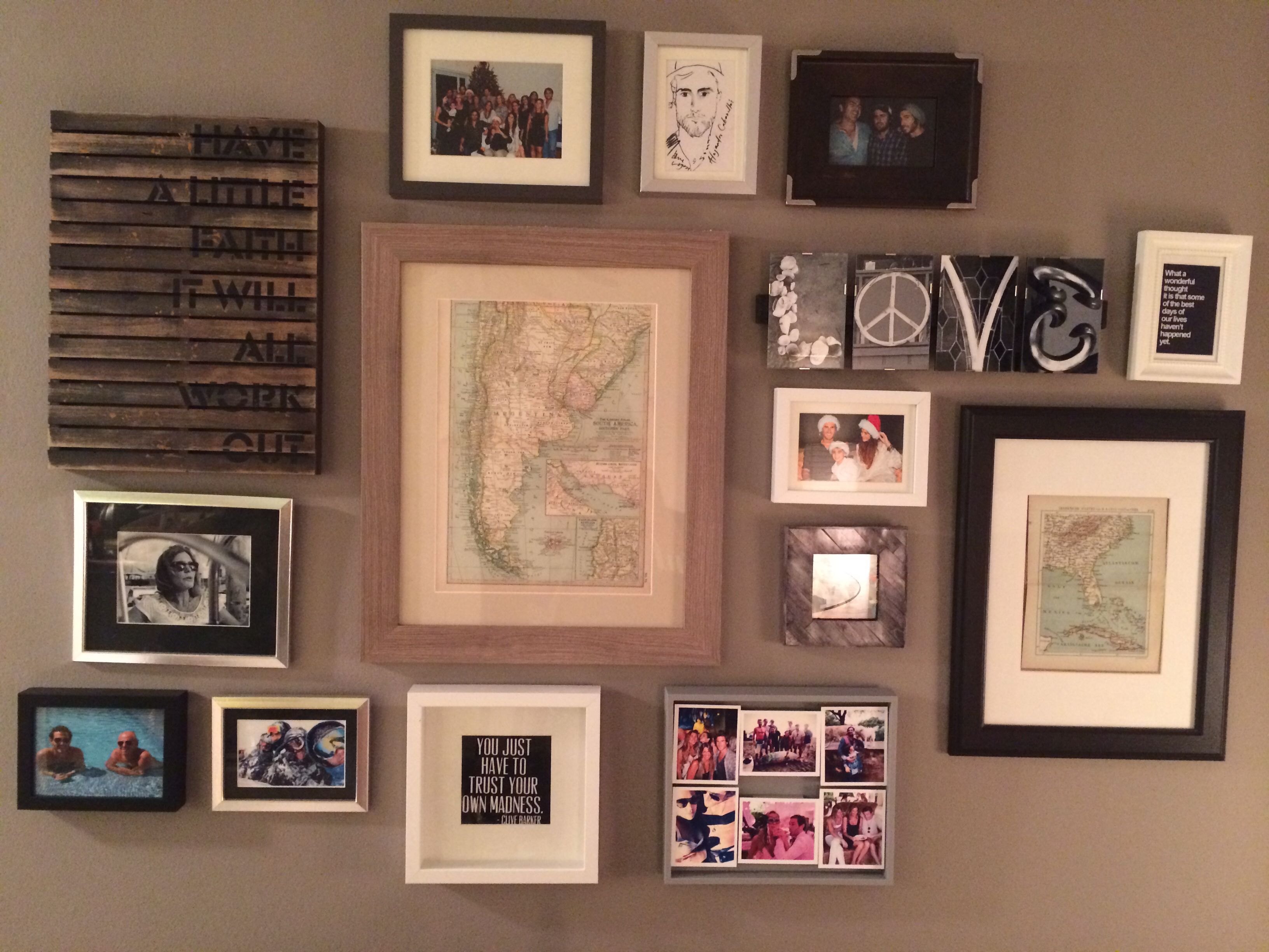 Gallery Wall With Antique Maps