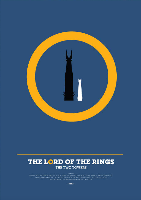 The Lord Of The Rings The Two Towers 2002 Minimal Movie Poster By David O Mara Amusementphile