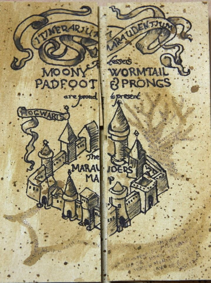 Bildergebnis für karte des rumtreibers | Harry Potter in 2018 ...