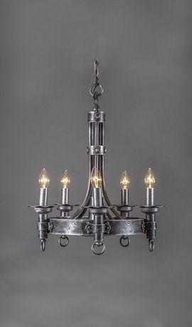 Castillian Vintage Wrought Iron Chandelier 5 Light 1395 Iron