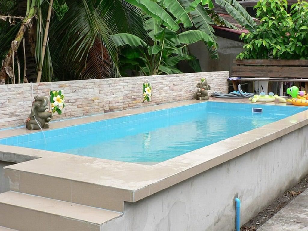 Small And Best Backyard Pool Landscaping Ideas Great Affordable Backyard Ideas Above Ground Swimming Pools Swimming Pools Backyard Above Ground Fiberglass Pools