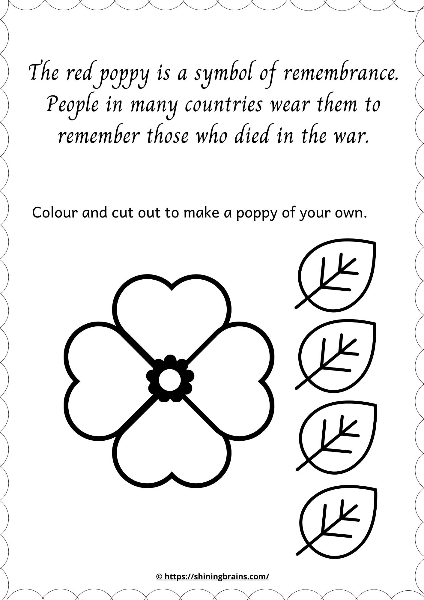 Red Poppy Worksheet