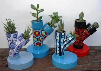 canos de pvc -vasos