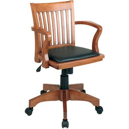 Deluxe Wood Banker S Chair Walmart Com Bankers Chair Wooden Office Chair Osp Home Furnishings