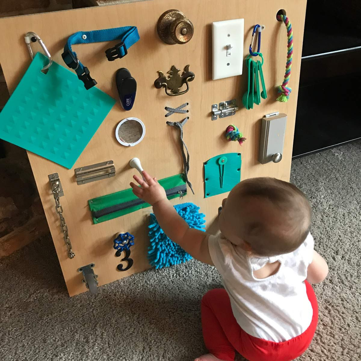 Build A Toddler Busy Board With Items You Already Have Toddler