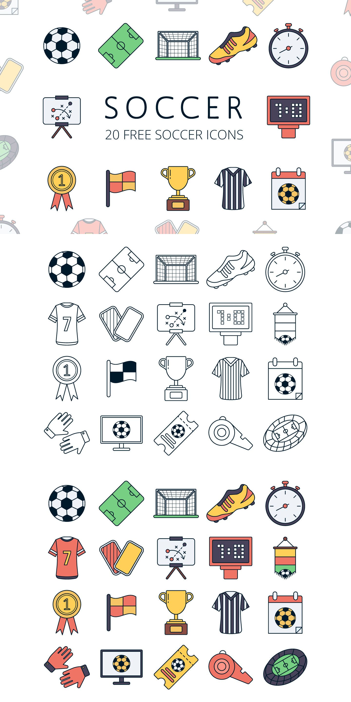 Soccer Vector Free Icon Set in 2020 Vector free, Easy