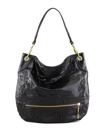 My fave bag as seen on AskSuzanneBell many times is now on sale at NeimanMarcus! The Lucy Crocodile Embossed Hobo Bag via Oryany  was $375.00, now $251.00