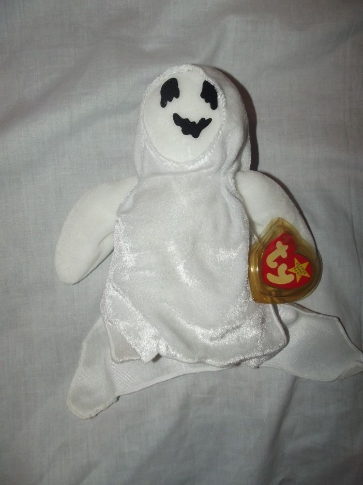 301358ae718 Ty Beanie Babies Baby - SHEETS the Ghost RETIRED 1999 MINT Tags  Ty ...