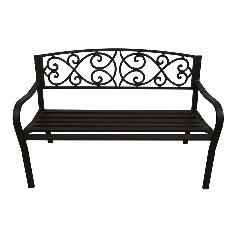 Hartman Black Cast Iron And Steel Bench With Images Cast Iron