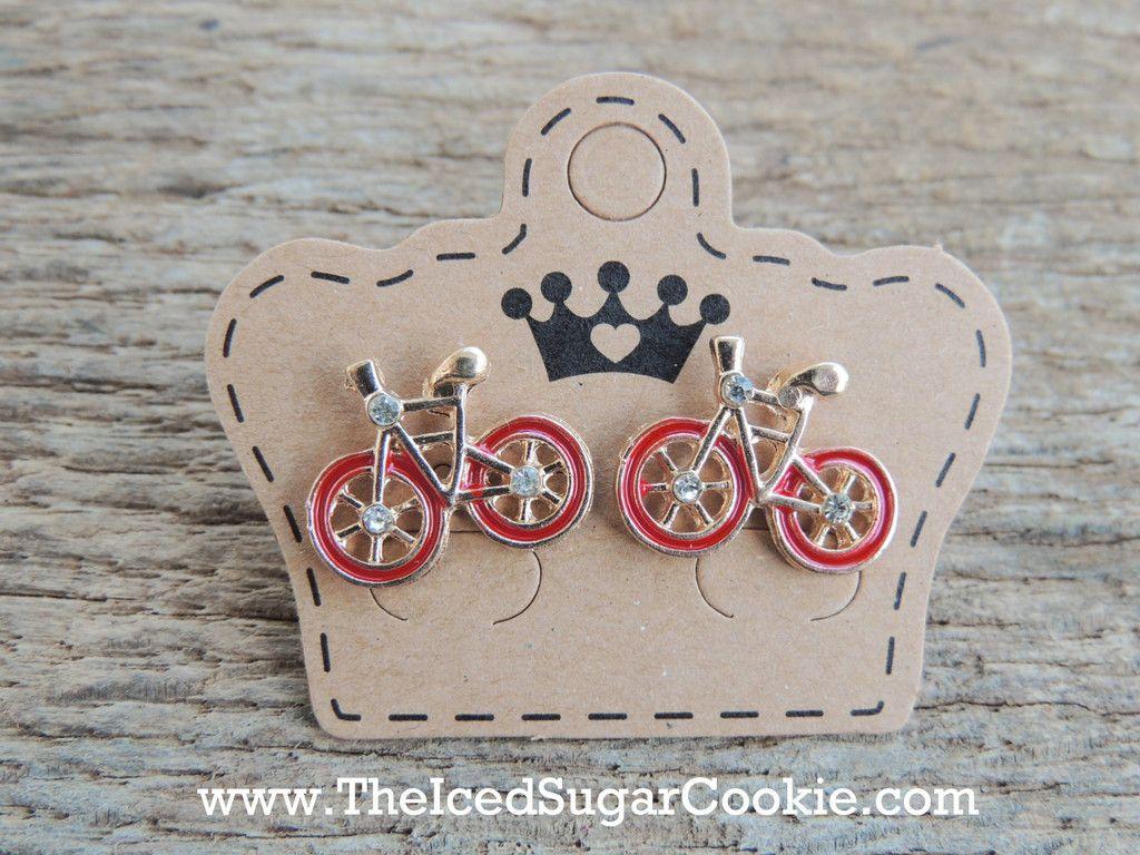 Bike Bling Earrings