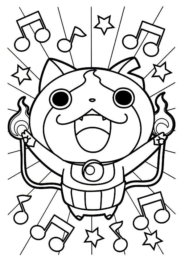 Coloriages à imprimer des personnages fascinants de YO-KAI