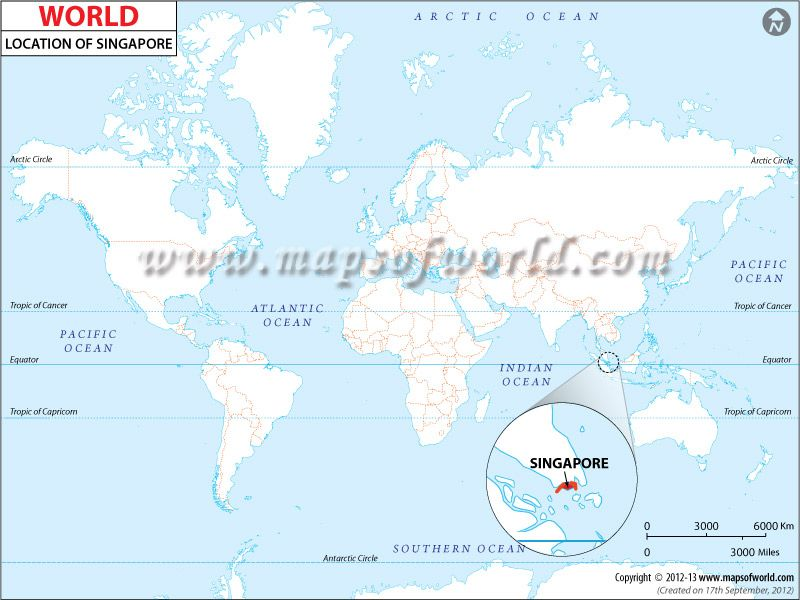 Location Map of Singapore | world maps | Singapore map, Bahrain map ...