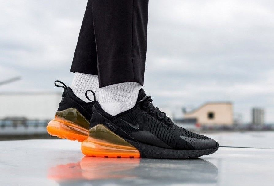 new style db501 047c2 NIKE AIR MAX 270    JUST DO IT  BLACK-ORANGE   AH8050-014 EXCLUSIVE  TRAINERS  Nike  Lifestyle