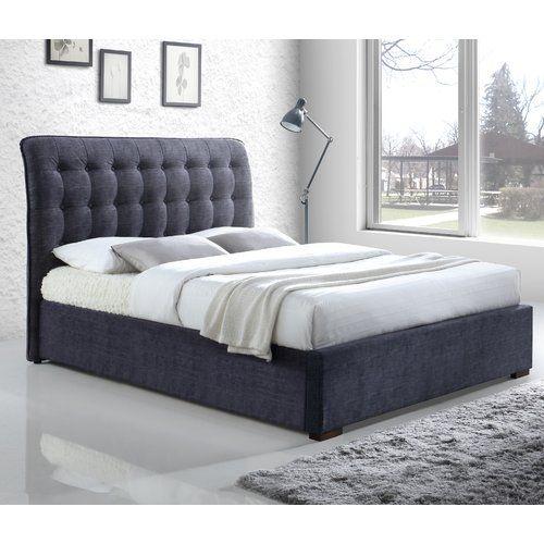 Midtown Bed Frame Brayden Studio Upholstery Colour Dark Grey