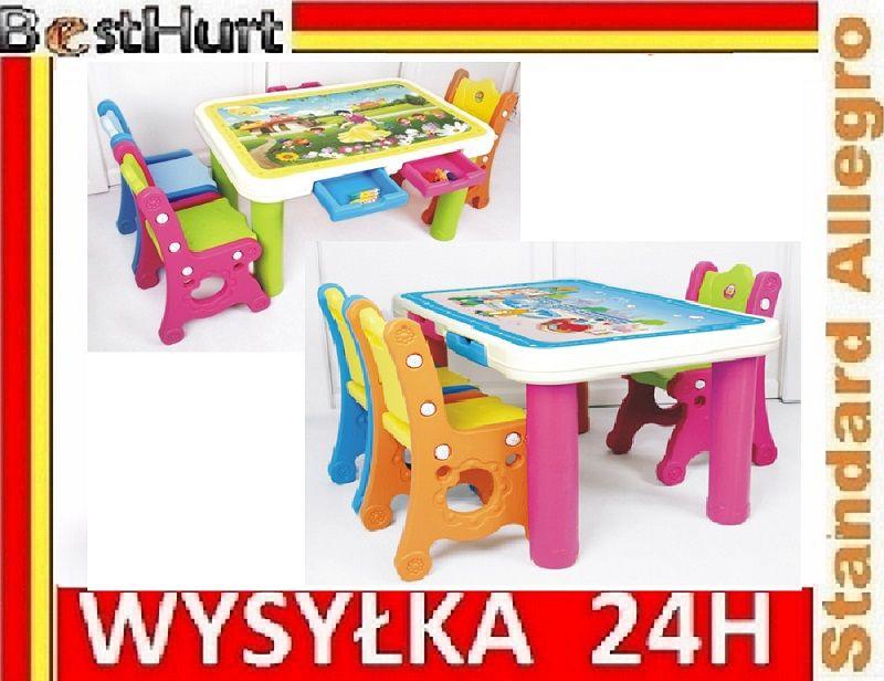 Mebelki Dla Dzieci Komplet Stolik Krzesełka Hit Rzeczy Do