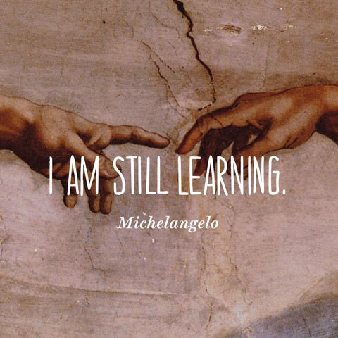 Quote About Learning - Michelangelo