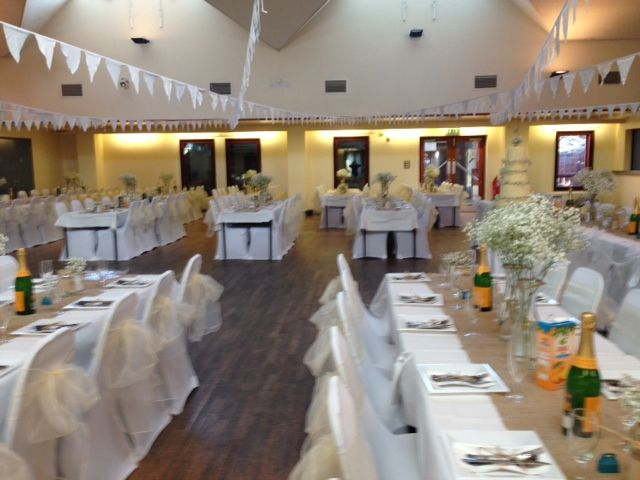 chair covers hire in wolverhampton diy swing white with ivory sashes featherstone community centre