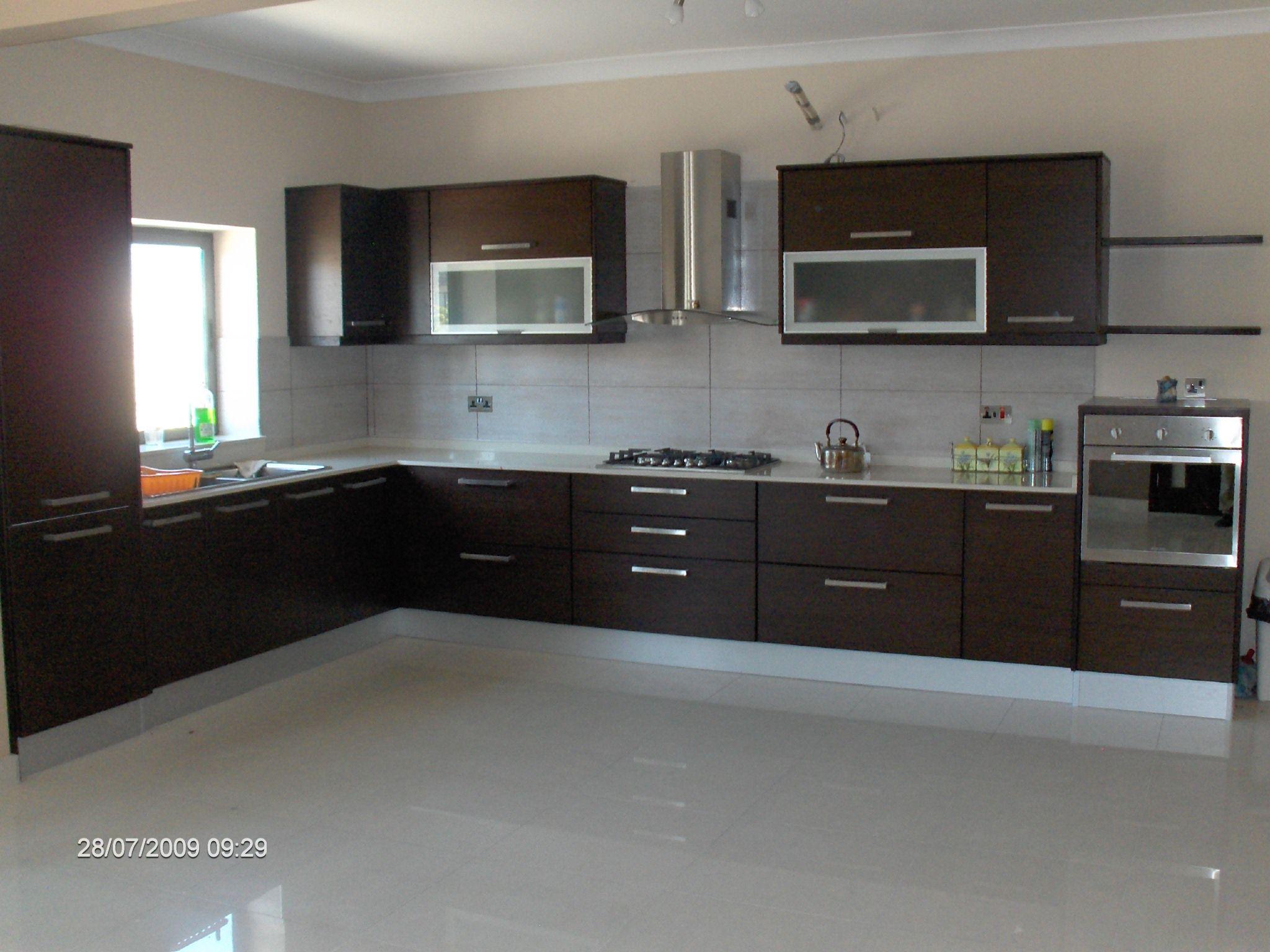 modern kitchens | modern kitchen in wenge including appliances