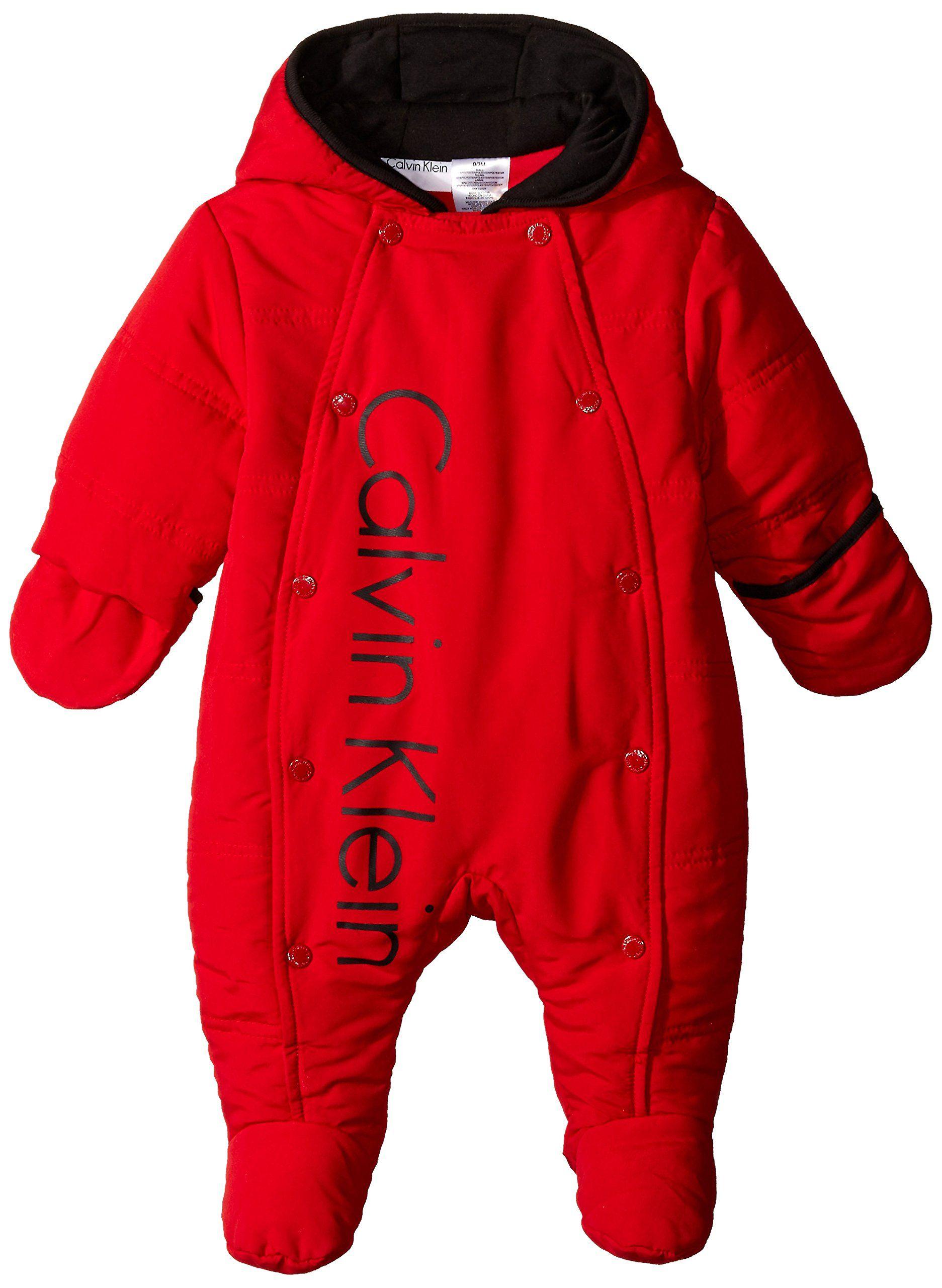 Amazon Com Calvin Klein Baby Boys Newborn Red Shiny Microfiber Quilted Pram Clothing Calvin Klein Baby Baby Boy Newborn Baby Boy