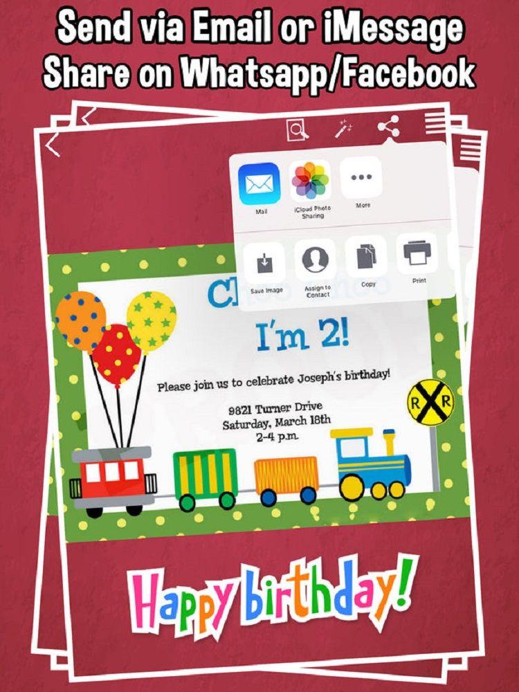 Japanese Birthday Invitation By Whatsapp