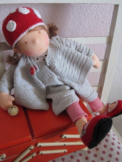 Toadstool Girl by Puppenliesl, via Flickr