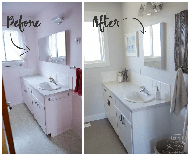 DIY Bathroom Remodel On A Budget (and Thoughts On Renovating In Phases)  #remodelingdiy