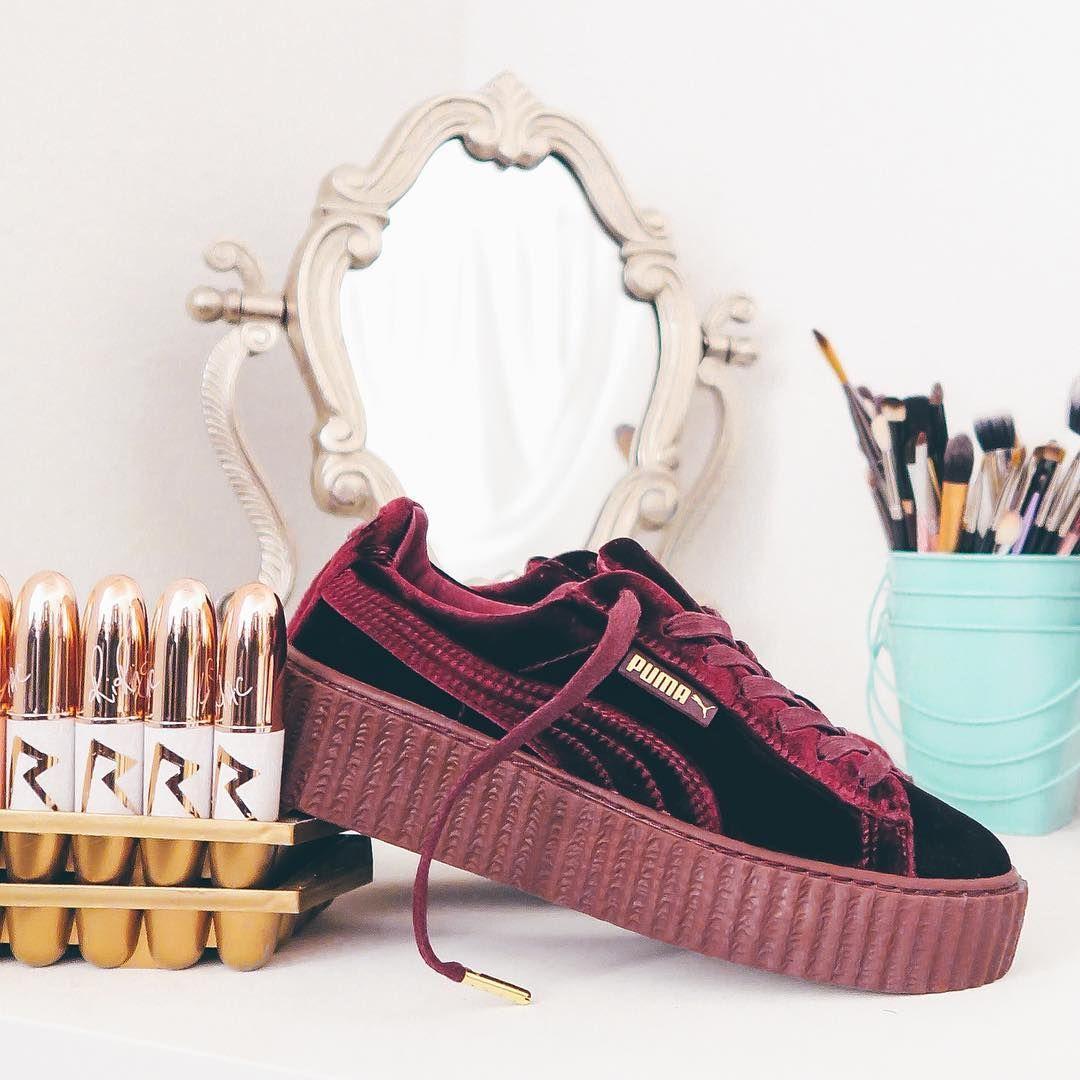 Sneakers women - Puma Fenty Creepers Velvet ( nicekicks  rayp photos ... 9447ed84ab