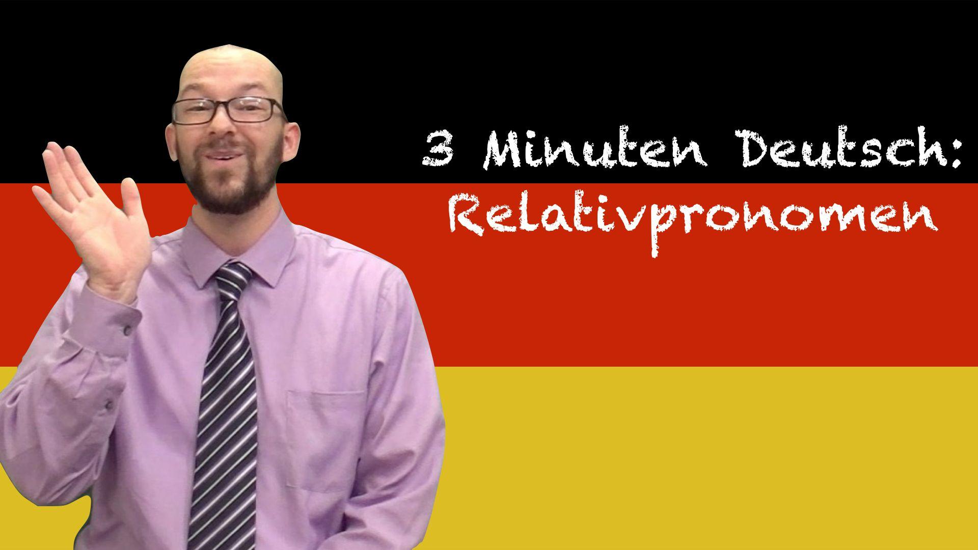 Relative Pronouns In German