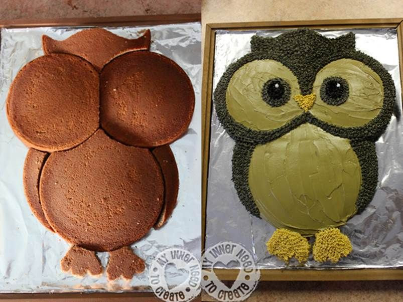 Easy Chocolate Owl Cake Quick Video Instructions Owl cakes Cake