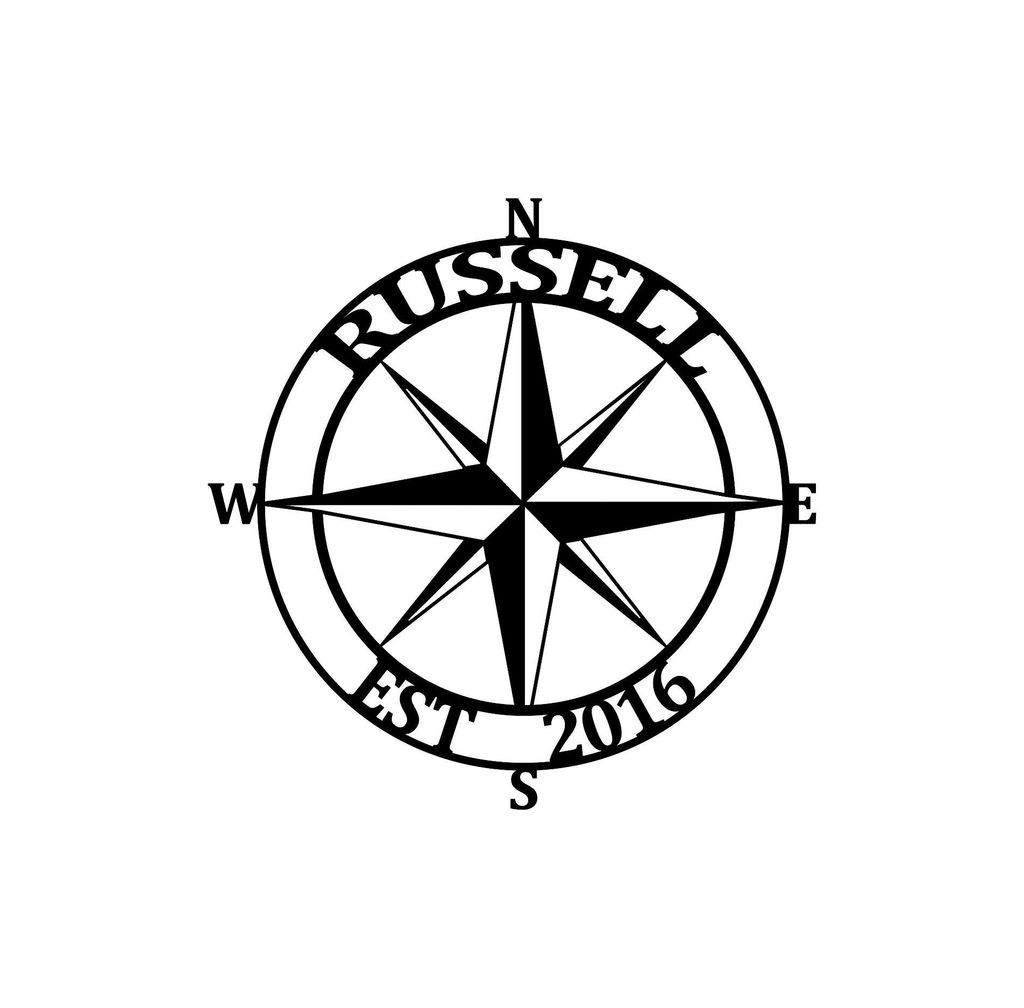 Nautical Compass Monogram New Arrival Personalized