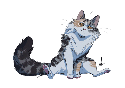 commission  meadowpawowlcoat  warrior cats art