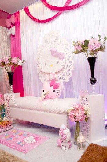 Theme Hello Kitty Pelamin Hello Kitty Theme Party Hello
