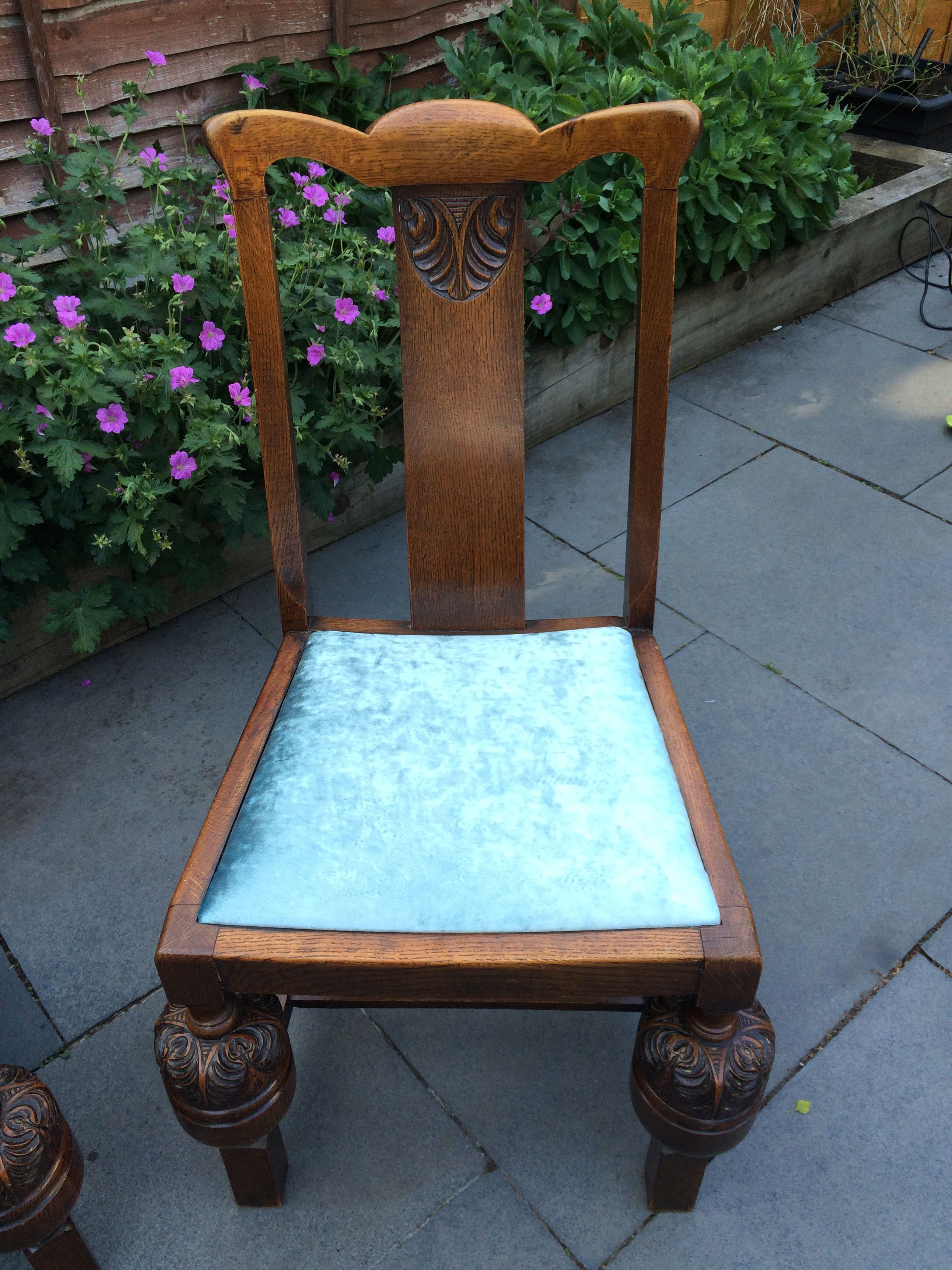 """vintage chair """"pineapple"""" on front legs to match"""