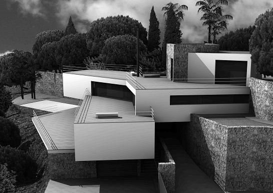 Vivienda unifamiliar altea alacant espa a maquetas - Casas minimalistas en espana ...