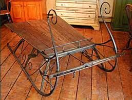 Antique Sleigh Coffee Table