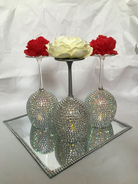 Items similar to Wine glass candle holder on Etsy