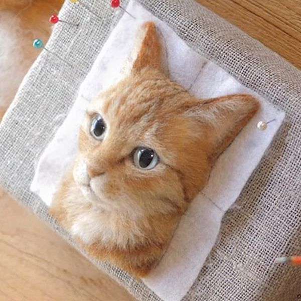 Japanese Artist Crafts Incredibly Realistic Cats Out of Felted Wool