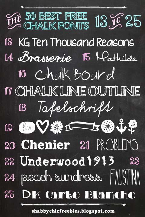 Shabby Chic Freebies Fifty Free Chalk Fonts Free Chalk Font Chalk Fonts Free Chalkboard Fonts