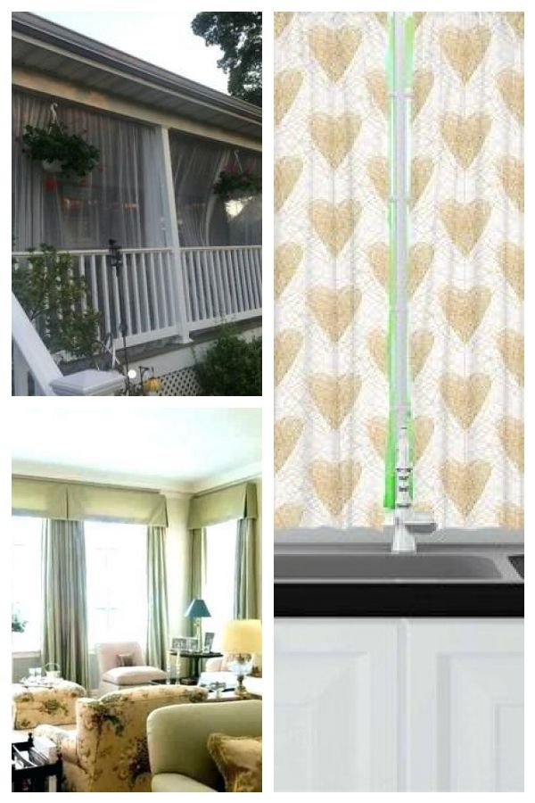 One White Mosquito Netting Curtain Panel For Patio Or