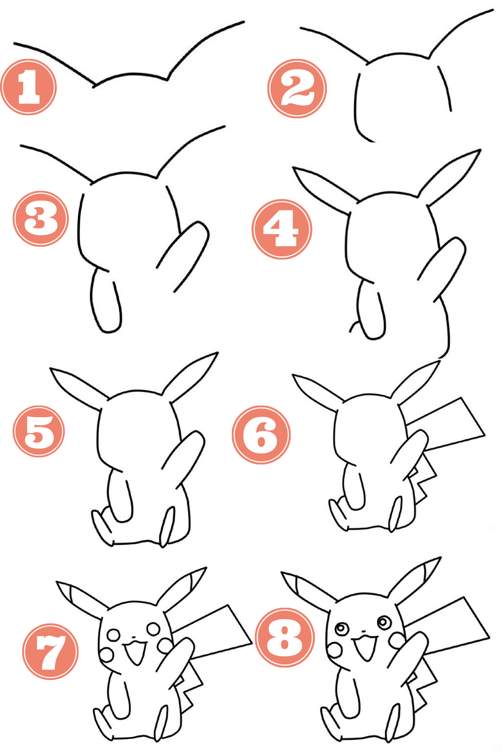How To Draw Chibi Pikachu Step By Step Easy Doodles Drawings Cute Easy Drawings Easy Drawings