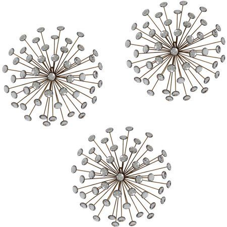 Stratton Home Decor Set Of 3 Gold Burst Wall Decor Walmart Com Home Decor Sets Stratton Home Decor Sunburst Wall Art
