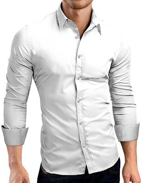 Qingyu Mens Shirt Brand 2017 Male Long Sleeve Shirts Casual Hit