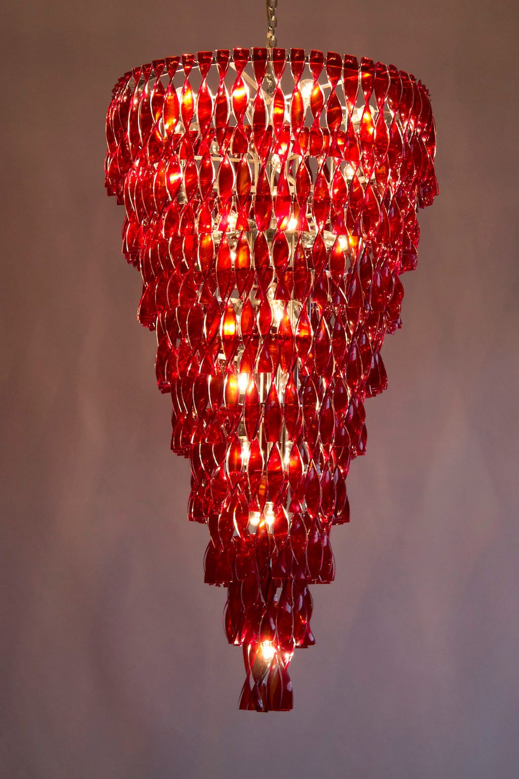 Italian Red Chandelier in Murano Glass, circa 1970s | Red chandelier, Murano glass, Crystal chandelier