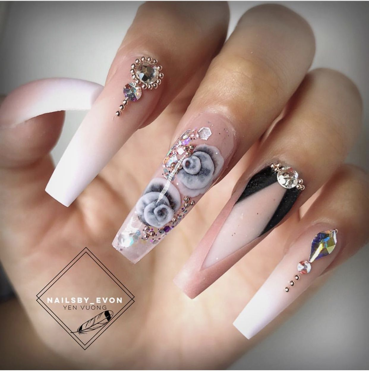 Pin by Luna Saez on Nail Art | Pinterest | Nails 2015 and Coffin nails