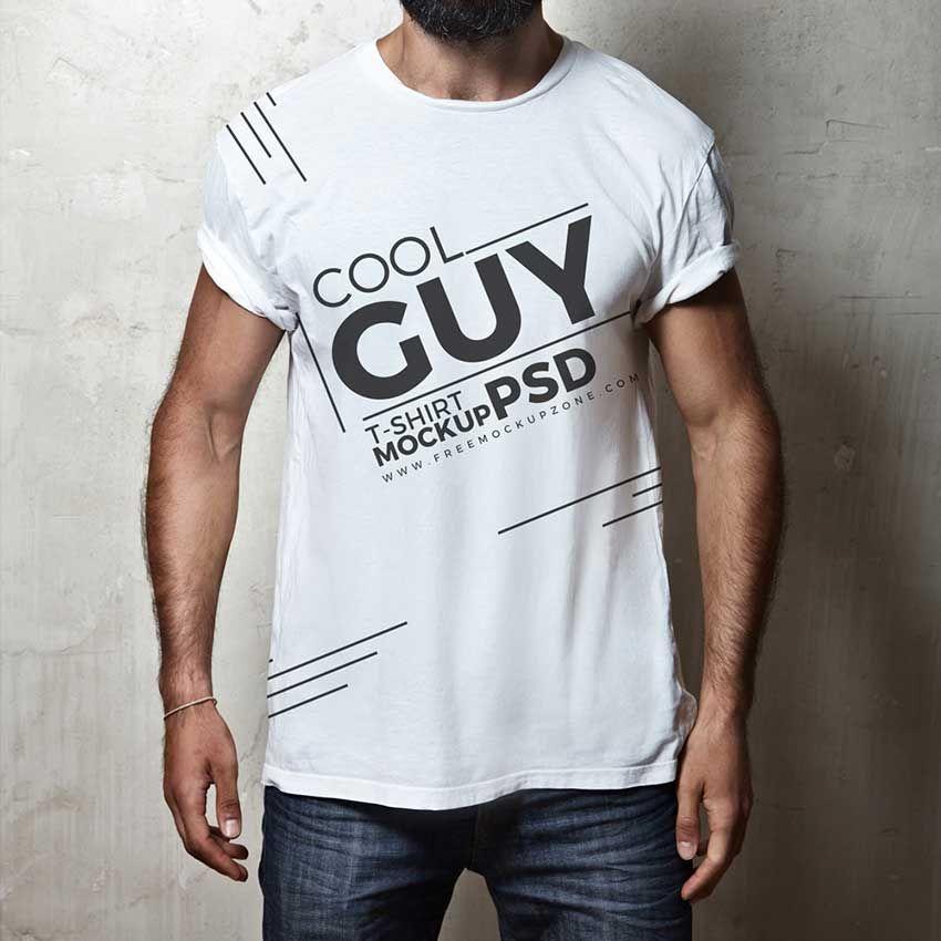 Download Cool Men T Shirt Mockup Tshirt Mockup Shirt Mockup T Shirt